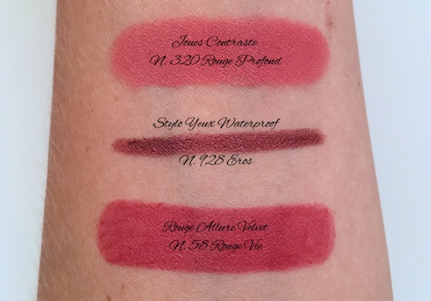 Chanel Le Rouge swatches.JPG