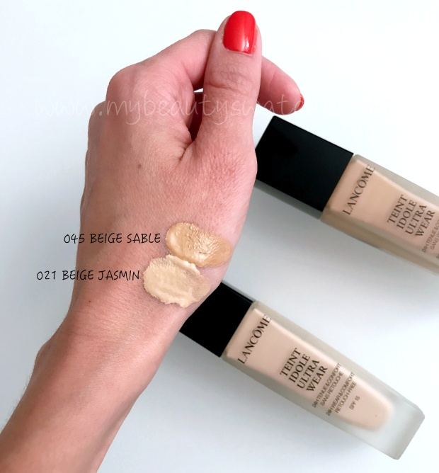 Lancome Teint Idole Ultra Wear swatches.JPG