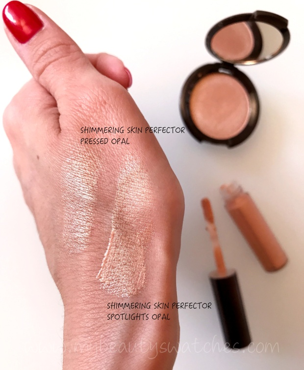 BECCA Opal Glow on the Go Kit swatches
