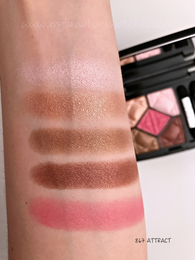 Dior Care & Dare palette Attract swatches.JPG