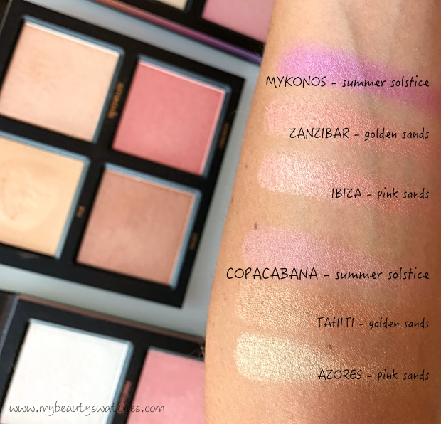 Huda Beauty_3D Highlighter Palette swatches comparison 2.jpg