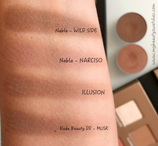 Nabla_Dreamy Eyeshadow Palette comp swatches 3