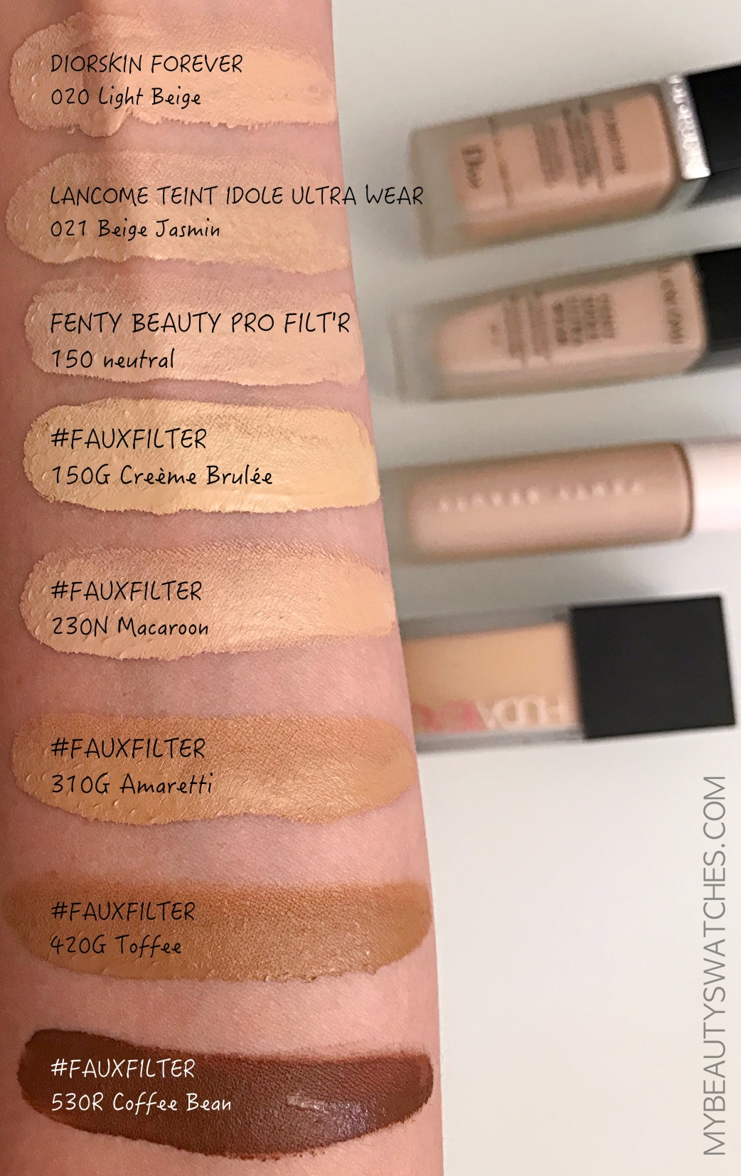 Huda Beauty_FauxFilter foundation swatches compa.jpg