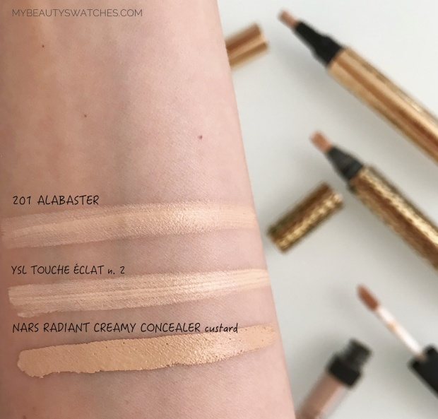 LABO filler makeup_Lightening Fluid Concealer swatches 2.jpg