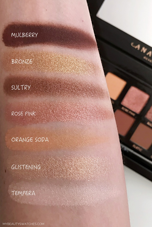 Anastasia Beverly Hills_Soft Glam swatches 1